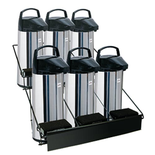 Update Black Wire 6 Airport Rack - 2 Tier APRK-6A