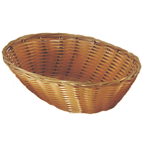 "Update Oval Natural Color Woven Basket - 9-1/2"" x 7"" BB-97"