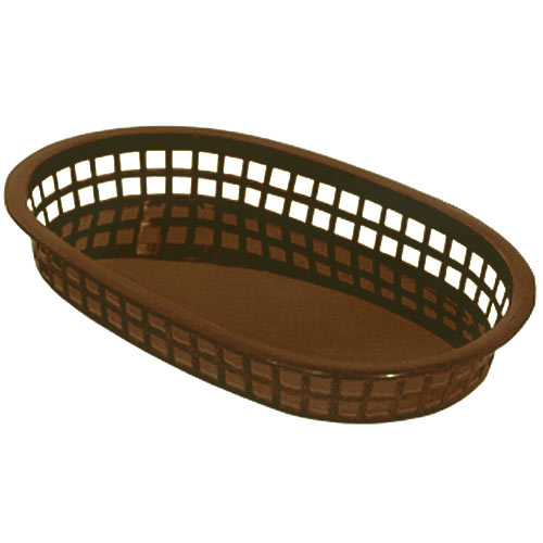 "Update Brown Fast Food Baskets - 10-1/2"" x 7"" BB107B"