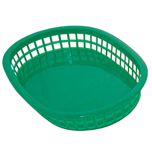 "Update Green Fast Food Baskets - 10-1/2"" x 7"" BB107G"
