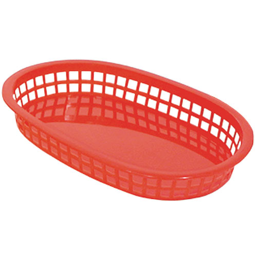 "Update Red Fast Food Baskets - 10-1/2"" x 7"" BB107R"