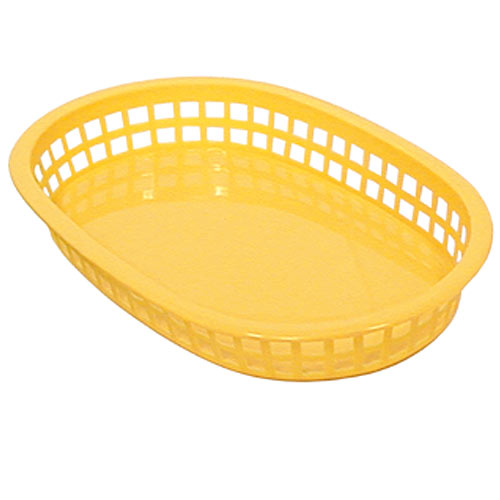 "Update Yellow Fast Food Baskets - 10-1/2"" x 7"" BB107Y"