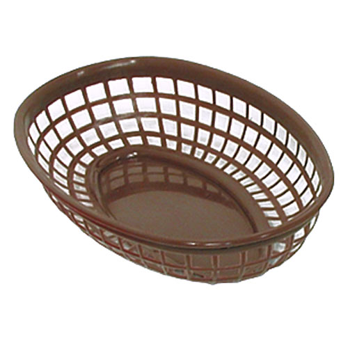 "Update Brown Fast Food Baskets - 9-1/4"" x 5-3/4"" BB96B"