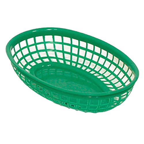 "Update Green Fast Food Baskets - 9-1/4"" x 5-3/4"" BB96G"