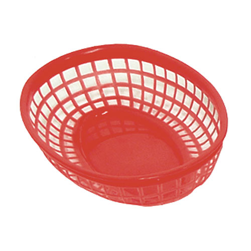 "Update Red Fast Food Baskets - 9-1/4"" x 5-3/4"" BB96R"
