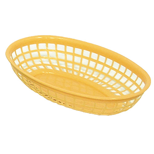 "Update Yellow Fast Food Baskets - 9-1/4"" x 5-3/4"" BB96Y"
