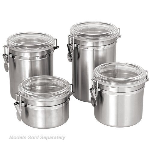 Update Stainless Steel Canister w/Plastic Lid - 30 oz CAN-4AC