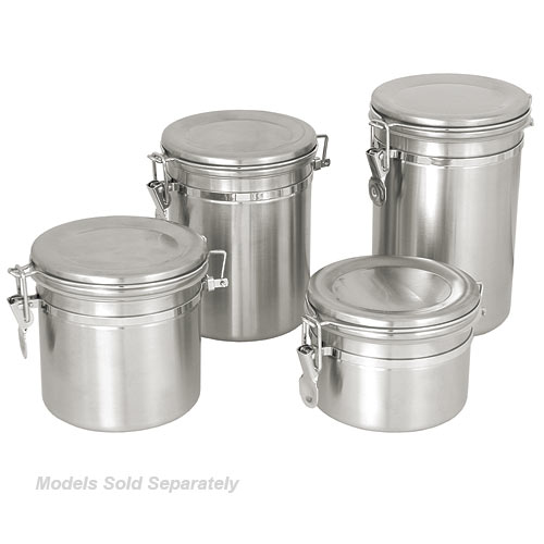 Update Stainless Steel Canister w/Stainless Steel Lid - 30 oz CAN-4SS