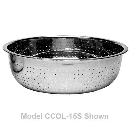 "Update 15"" Stainless Steel Chinese Colander - 2mm Holes CCOL-15S"