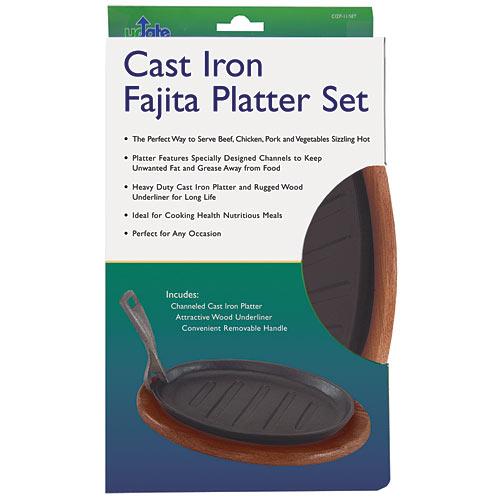 """Update Cast Iron Fajita Platter Set - 11"""" CIZP-11/SET"""