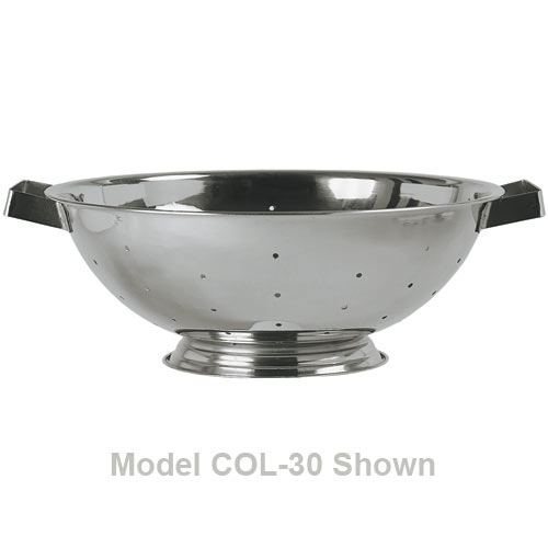 Update Stainless Steel Colander w/Handles & Base - 5 qt COL-50