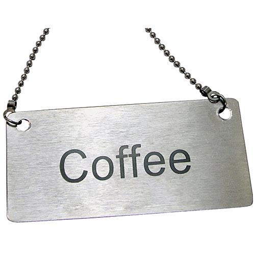 Update Stainless Steel Beverage Chain Sign - Coffee CS-CFE