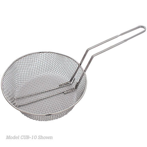 "Update Round Coarse Mesh Culinary Basket - 12"" CUB-12C"