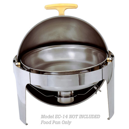Update Gold Accented Roll-Top Chafer Food Pans EC-14/FP
