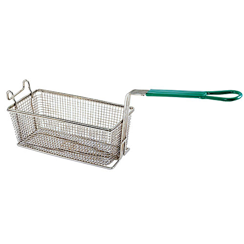 "Update Rectangle Wire Fry Baskets w/Coated Handle - 11"" x 5-1/2"" x 4-1/4"" FB-115PH"