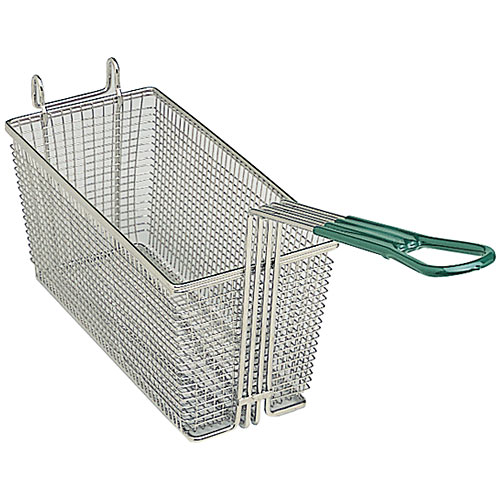 "Update Rectangle Wire Fry Baskets w/Coated Handle - 12-5/8"" x 6-1/2"" x 5-1/8"" FB-126PH"