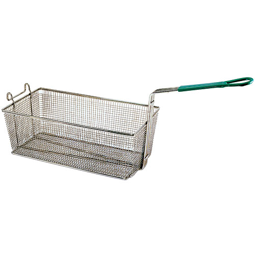 "Update Rectangle Wire Fry Baskets w/Coated Handle - 17"" x 8"" x 6"" FB-178PH"