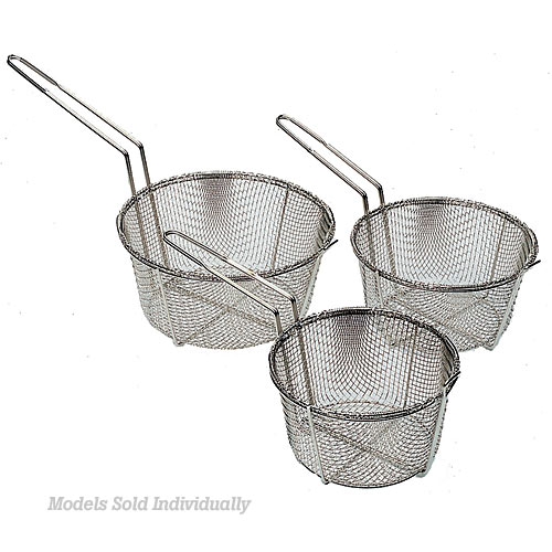 "Update Round Wire Fry Basket - 9 1/2"" FB-9"