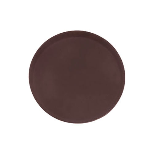 "Update Brown Round Non-Slip Serving Tray -11"" GT-1100BR"