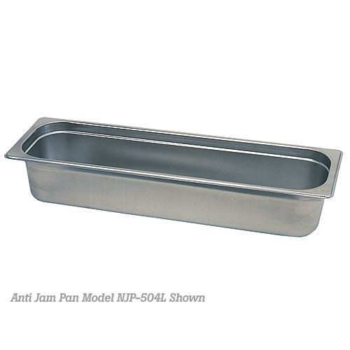 "Update Anti-Jam 25 ga Steam Table Pan - Half Long Size 4"" D NJP-504L"