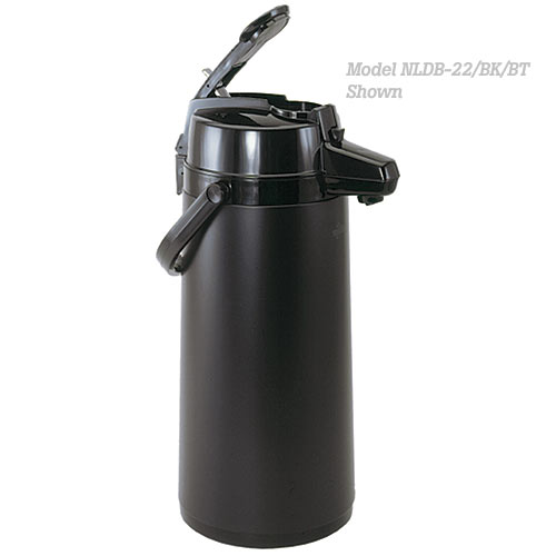 Update All Black Tin Body Lever Top Decaf Airpot - 2.2 L NLDB-22/OR/BT