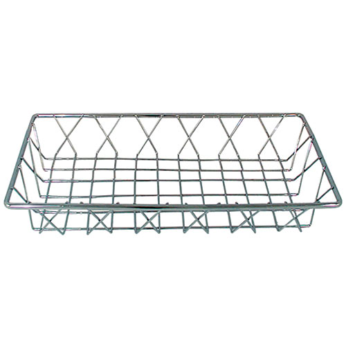 "Update Chrome Pastry Basket - 14"" x 6"" x 2"" PB-146"