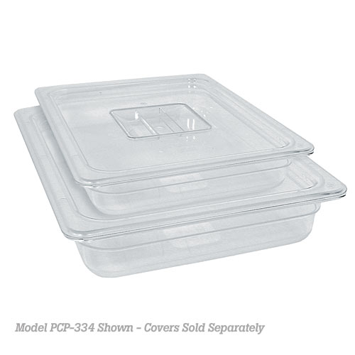 "Update Polycarbonate Food Pan - Fourth Size 2-1/2"" D PCP-252"
