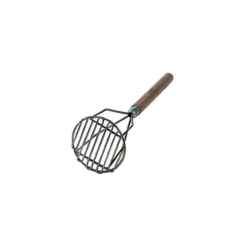 "Update Round Nickel Plated Masher - 24"" Wood Handle PMRD-24"