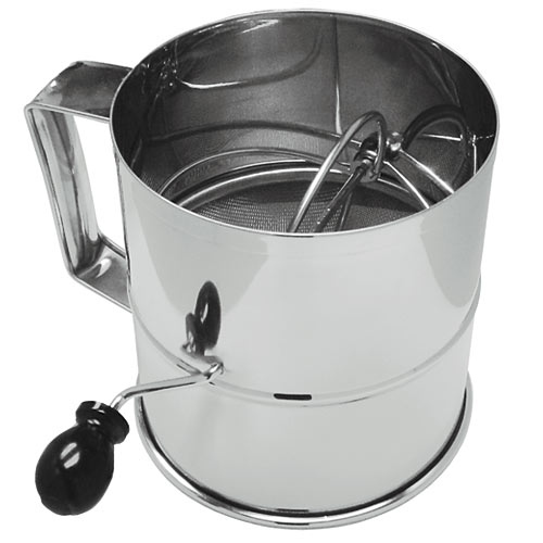 Update 8 Cup S/S Rotary Flour Sifter RFS-3LB