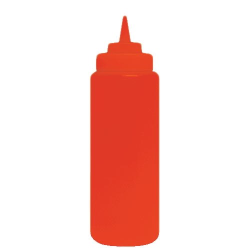 Update Wide Mouth Red Squeeze Bottle - 24 oz  SBR-24W
