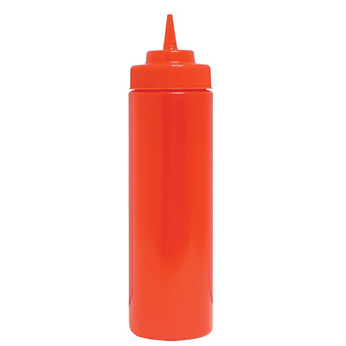 Update Wide Mouth Red Squeeze Bottle - 32 oz  SBR-32W