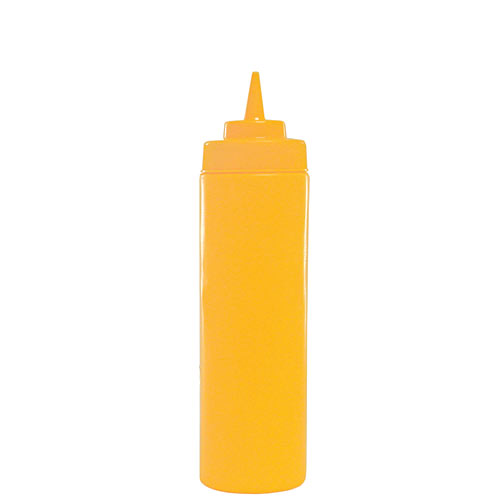 Update Wide Mouth Yellow Squeeze Bottle - 16 oz  SBY-16W