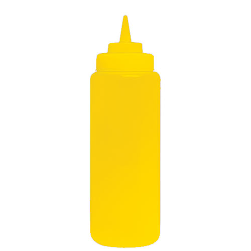 Update Wide Mouth Yellow Squeeze Bottle - 24 oz  SBY-24W