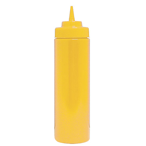 Update Wide Mouth Yellow Squeeze Bottle - 32 oz  SBY-32W