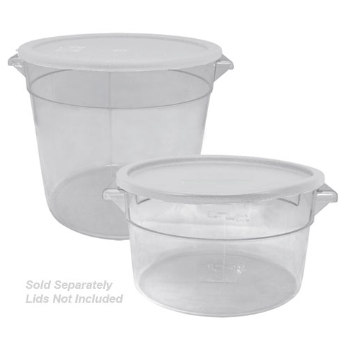 Update Round PC Storage Containers - 4 qt SCR-4PC