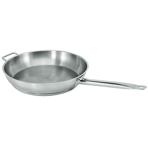 """Update Natural Finish Stainless Steel Fry Pan - 12"""" SFP-12"""