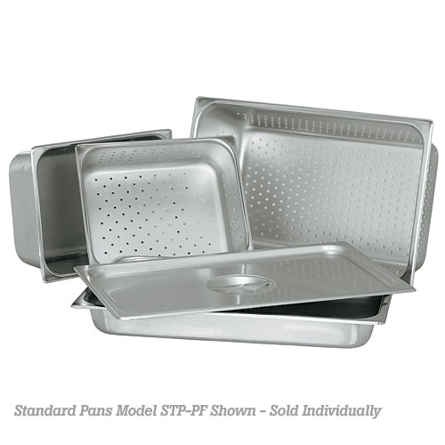 "Update Standard 25 ga Perforated Steam Table Pan - Half Size 6"" D STP-506PF"