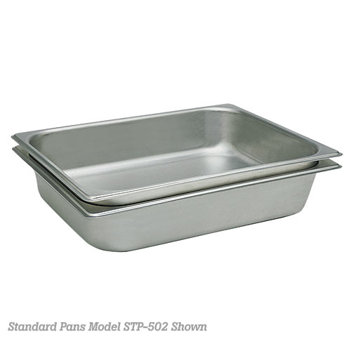"Update Standard 25 ga Steam Table Pan - Third Size 4"" D STP-334"