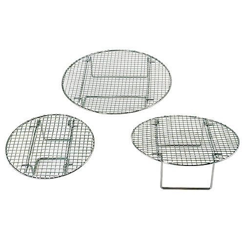"Update Round Chrome Plated Steamer Racks - 12 3/4"" STR1275"