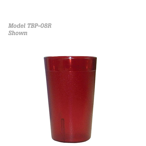 Update Red Plastic Tumbler - 8 oz TBP-08R