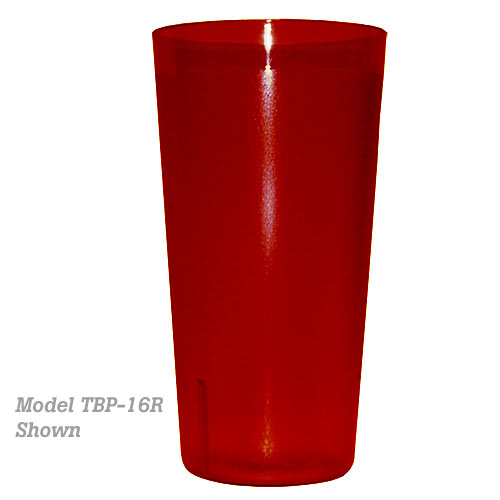 Update Red Plastic Tumbler - 16 oz TBP-16R