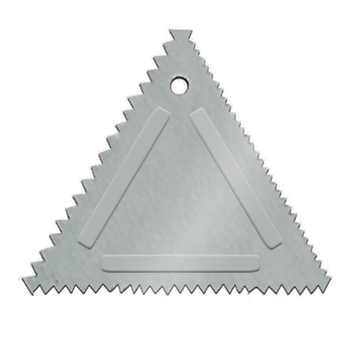 Update Aluminum Triangular Cake Decorating Comb TDC-AL