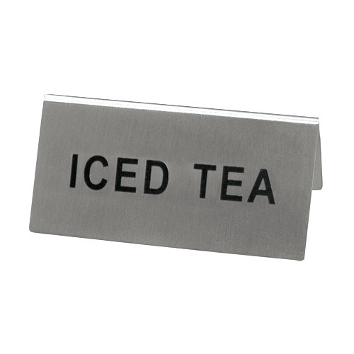 Update Stainless Steel Beverage Tent Sign - Iced Tea TS-ITE