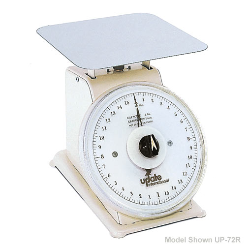 "Update 7"" Rotating Dial Portion Scale - 2 lb UP-72R"