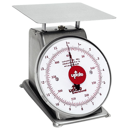 "Update 7"" Dial Stainless Steel Portion Scale - 1 lb UPS-71"