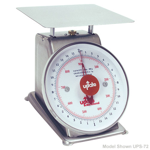 "Update 7"" Dial Stainless Steel Portion Scale - 2 lb UPS-72"