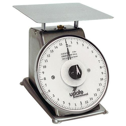 "Update 7"" Rotating Dial Stainless Steel Portion Scale - 2 lb UPS-72R"
