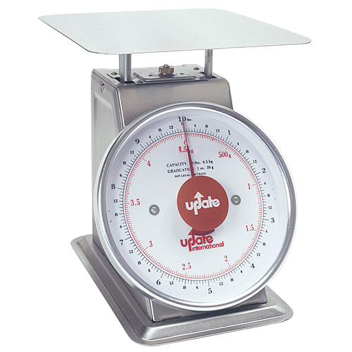 "Update 8"" Dial Stainless Steel Portion Scale - 10 lb UPS-810"