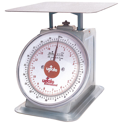 "Update 8"" Dial Stainless Steel Portion Scale - 20 lb UPS-820"