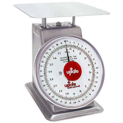 "Update 8"" Dial Stainless Steel Receiving Scale - 40 lb UPS-840"